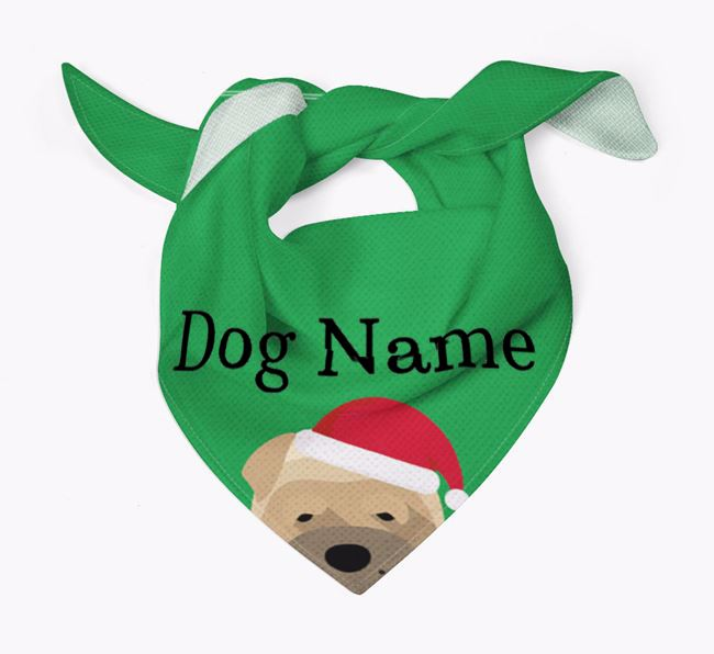 Personalized Christmas Dog Icon 'Peeking' Bandana
