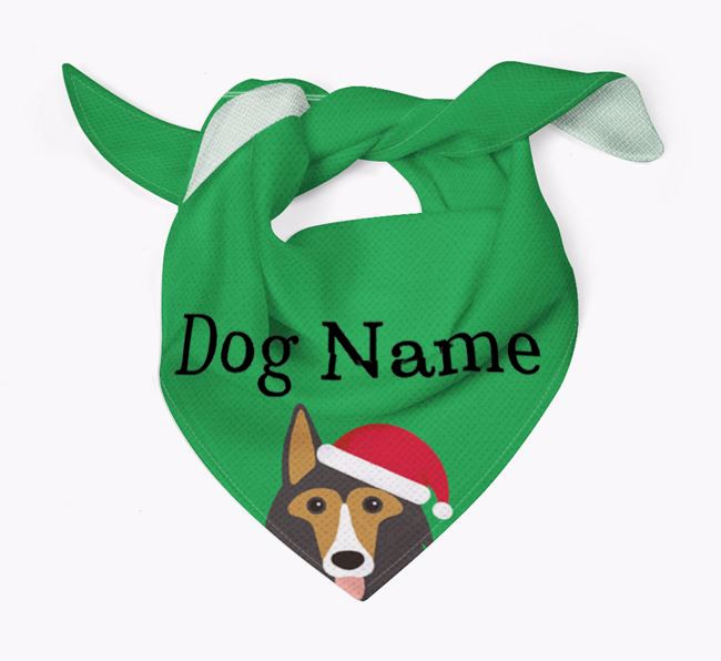 Personalised Christmas Shollie Icon 'Peeking' Bandana