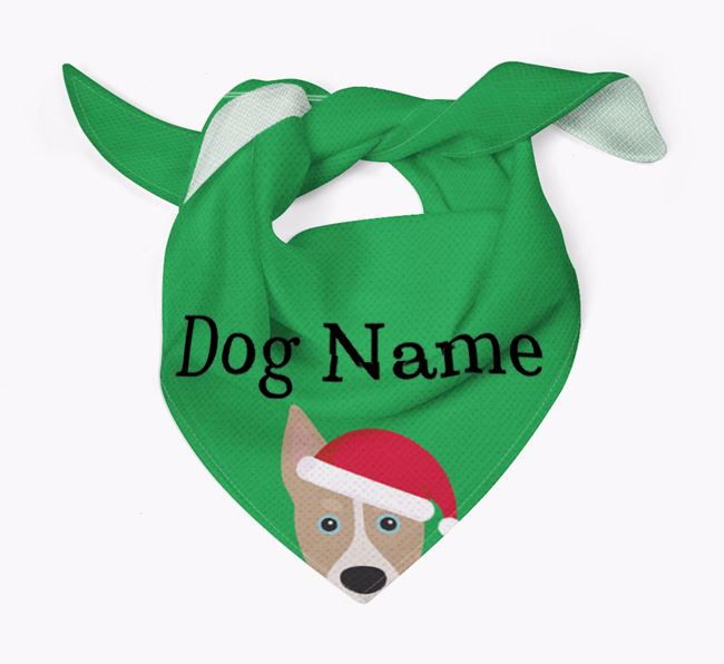 Personalised Christmas Siberian Cocker Icon 'Peeking' Bandana
