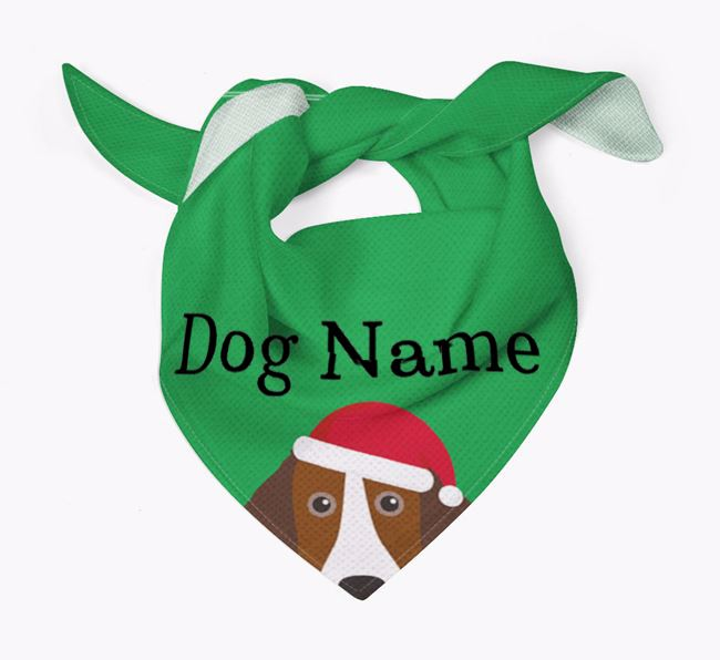 Personalised Christmas Sprollie Icon 'Peeking' Bandana
