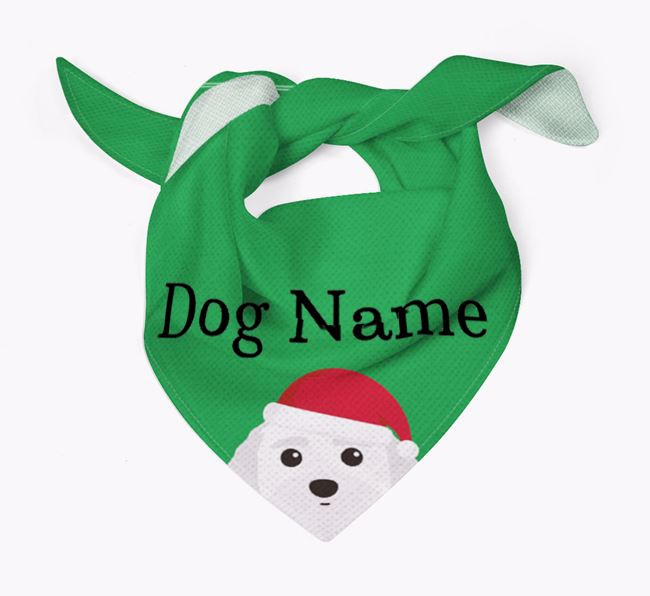 Personalised Christmas Terri-Poo Icon 'Peeking' Bandana