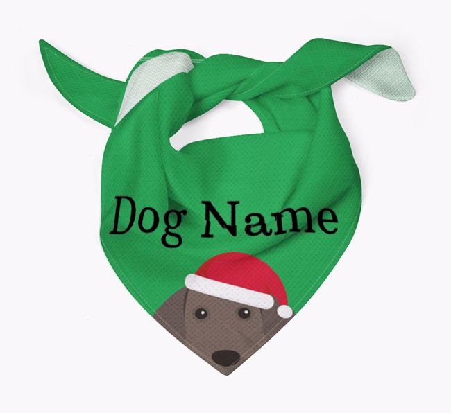 Personalised Christmas Weimaraner Icon 'Peeking' Bandana