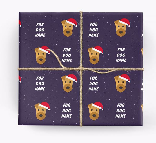 Christmas Wrapping Paper for your Airedale Terrier