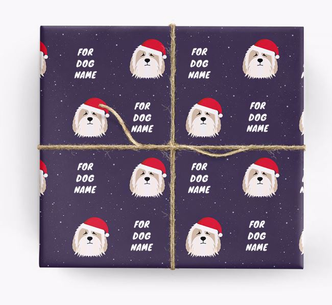 Christmas Wrapping Paper for your Bearded Collie