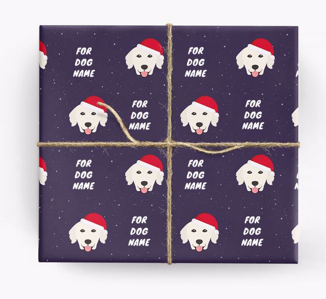 Christmas Wrapping Paper for your Golden Retriever