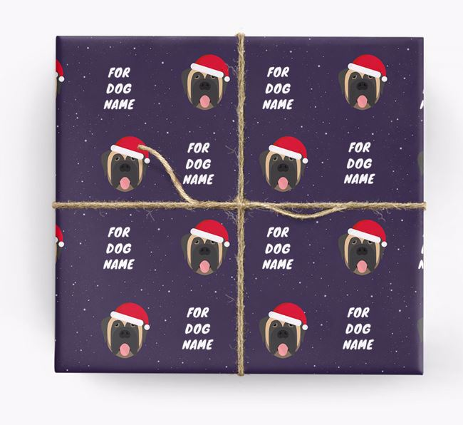 Christmas Wrapping Paper for your Mastiff
