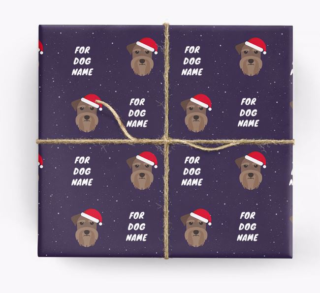 Christmas Wrapping Paper for your Schnauzer