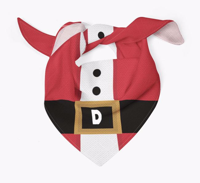Personalised Santa Suit Bandana for your Black and Tan Coonhound