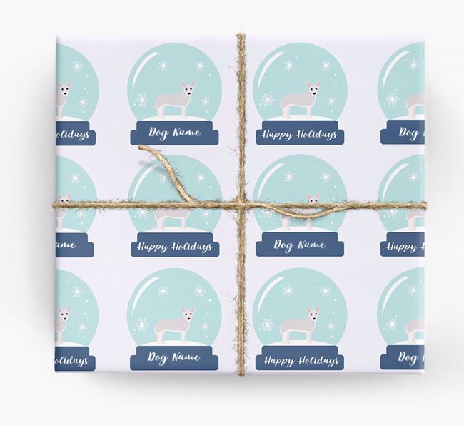 Personalised 'Snow Globe' Christmas Wrapping Paper with your Cojack Icon