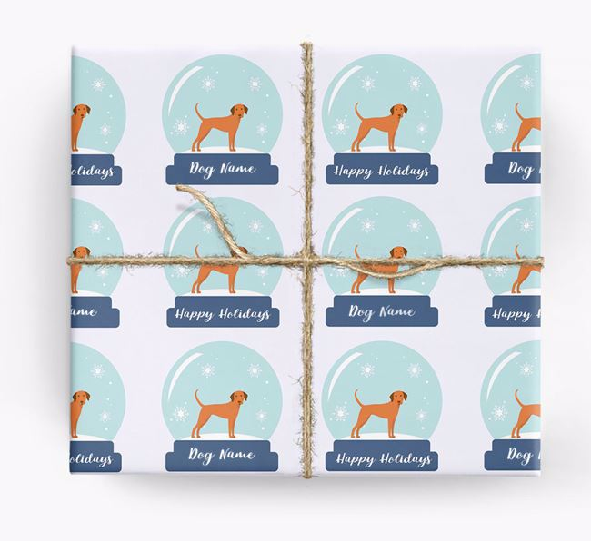 Personalized 'Snow Globe' Christmas Wrapping Paper with your Dog Icon