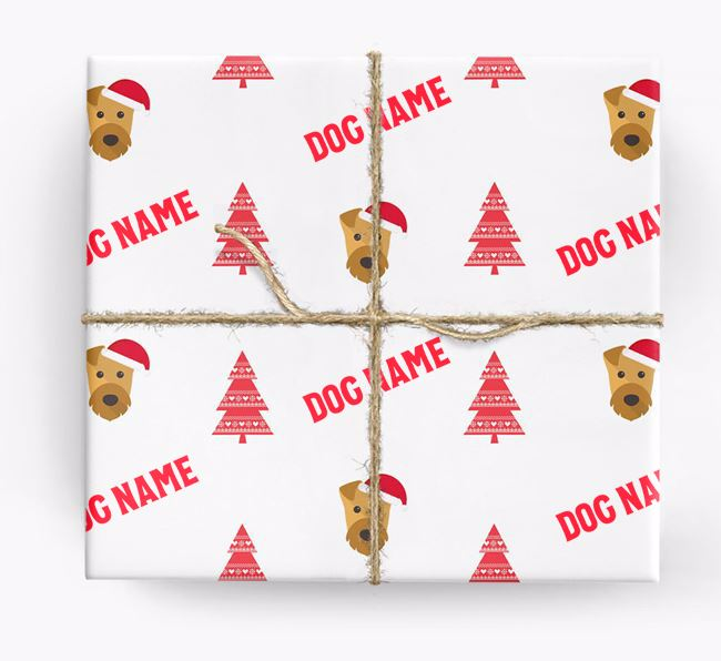 Personalised Christmas Wrapping Paper with your Airedale Terrier Icon