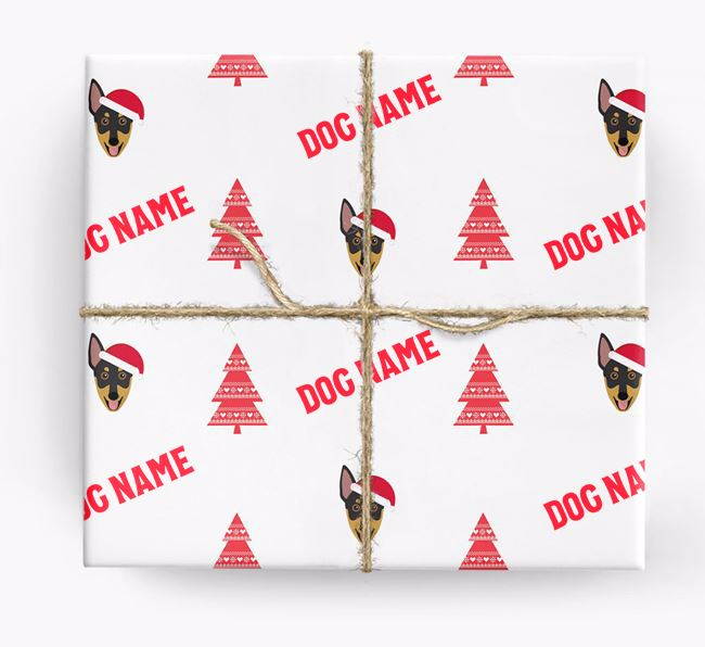 Personalised Christmas Wrapping Paper with your Australian Working Kelpie Icon