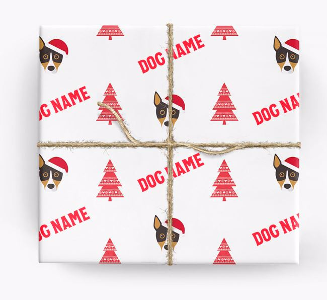 Personalised Christmas Wrapping Paper with your Basenji Icon