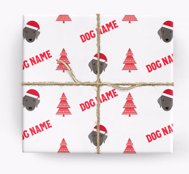 Personalized Christmas Wrapping Paper with your Bedlington Terrier Icon