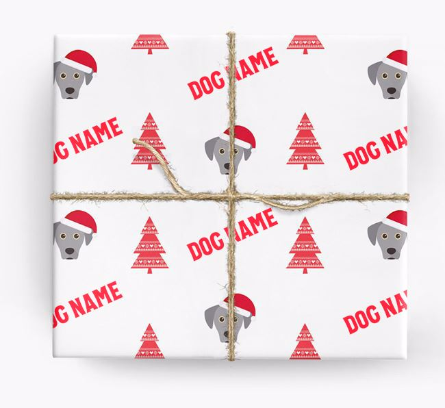 Personalised Christmas Wrapping Paper with your Blue Lacy Icon