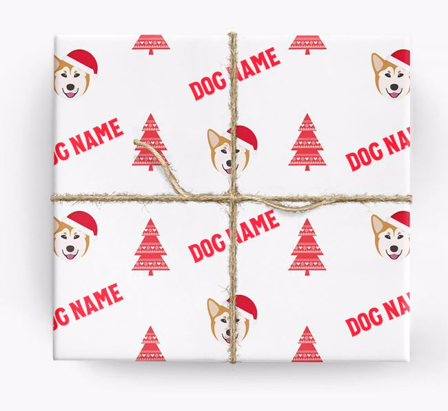 Personalised Christmas Wrapping Paper with your Canadian Eskimo Dog Icon