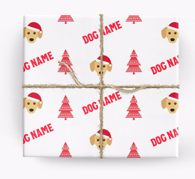 Personalised Christmas Wrapping Paper with your Chiweenie Icon