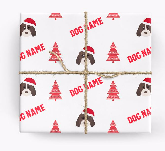 Personalised Christmas Wrapping Paper with your Cockapoo Icon