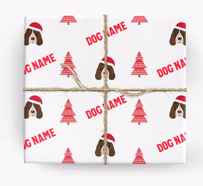 Personalised Christmas Wrapping Paper with your Cocker Spaniel Icon