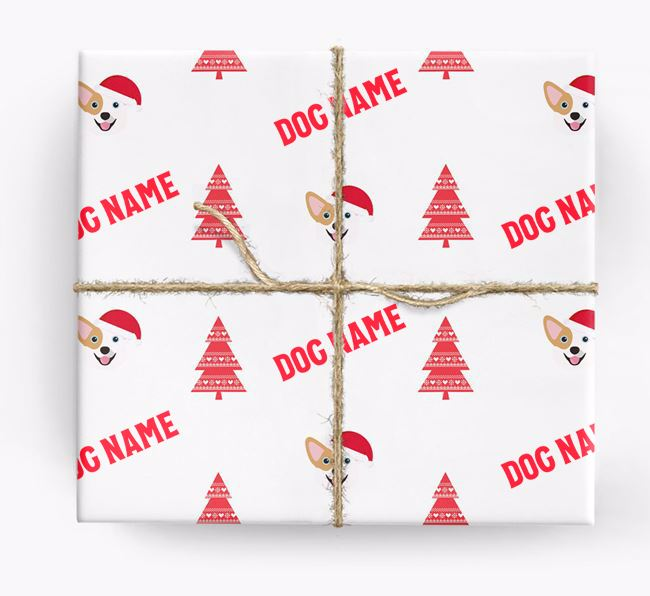 Personalised Christmas Wrapping Paper with your Corgi Icon