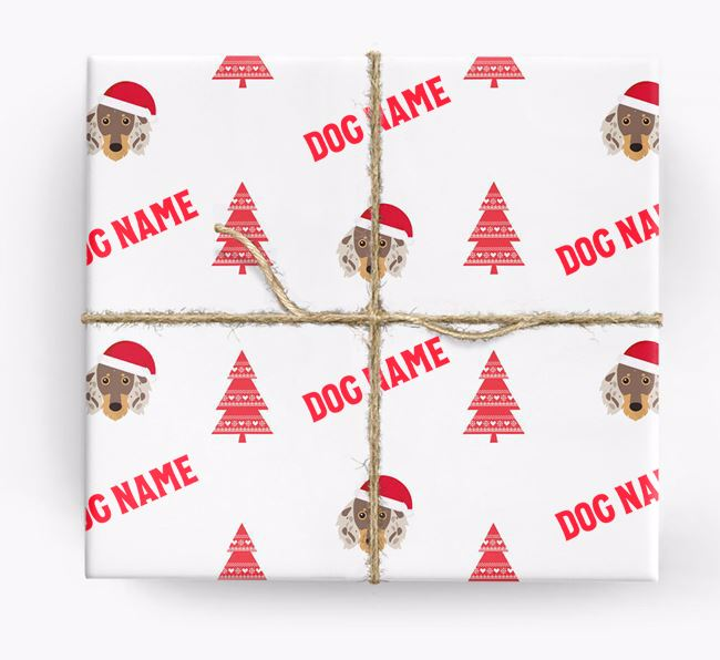 Personalised Christmas Wrapping Paper with your Dachshund Icon