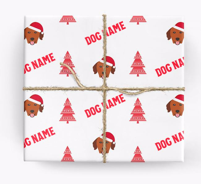 Personalized Christmas Wrapping Paper with your Golden Retriever Icon