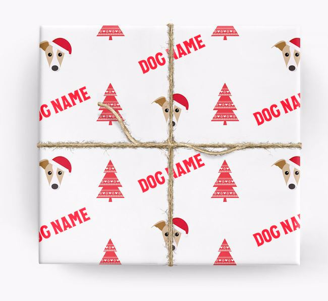 Personalised Christmas Wrapping Paper with your Dog Icon