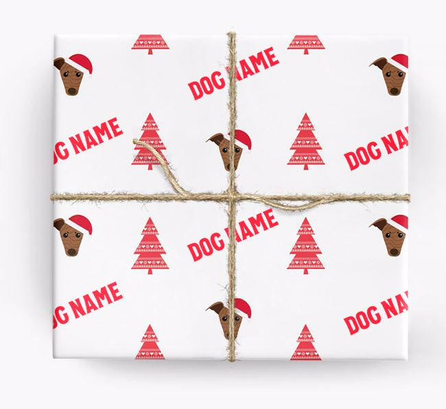 Personalised Christmas Wrapping Paper with your Greyhound Icon