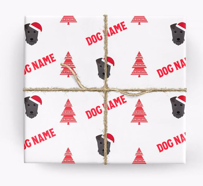 Personalized Christmas Wrapping Paper with your Lakeland Terrier Icon