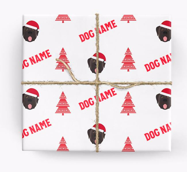 Personalized Christmas Wrapping Paper with your Mastiff Icon