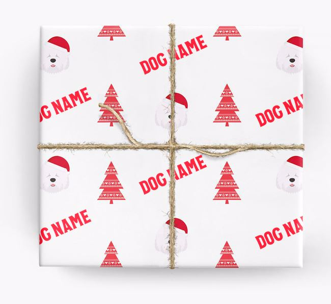 Personalized Christmas Wrapping Paper with your Old English Sheepdog Icon