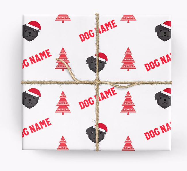 Personalised Christmas Wrapping Paper with your Pug Icon