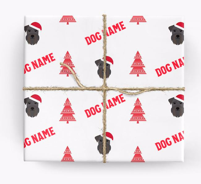 Personalised Christmas Wrapping Paper with your Schnauzer Icon
