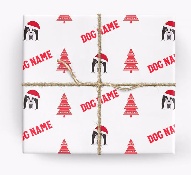 Personalised Christmas Wrapping Paper with your Shih Tzu Icon