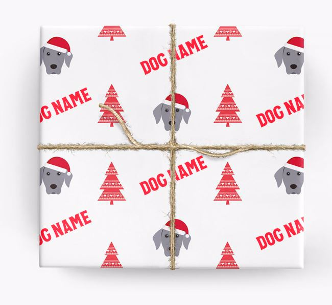 Personalized Christmas Wrapping Paper with your Dog Icon