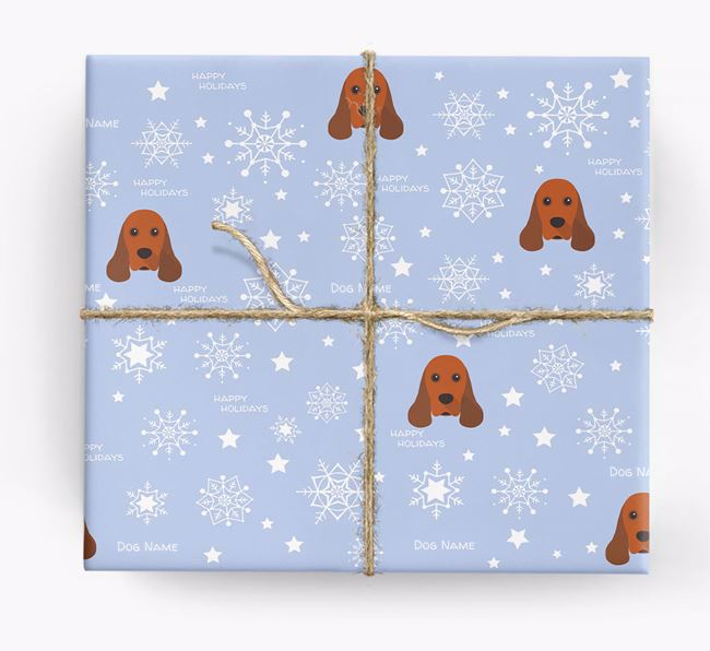 Personalised 'Happy Holidays' Christmas Wrapping Paper with your American Cocker Spaniel Icon