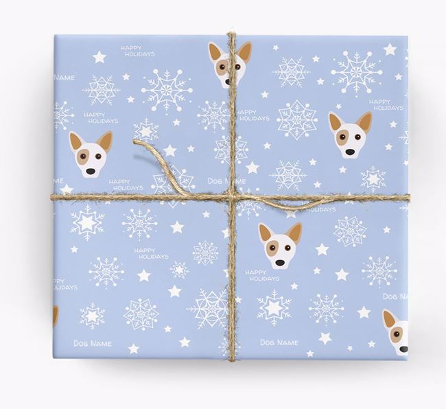 Personalised 'Happy Holidays' Christmas Wrapping Paper with your Cojack Icon