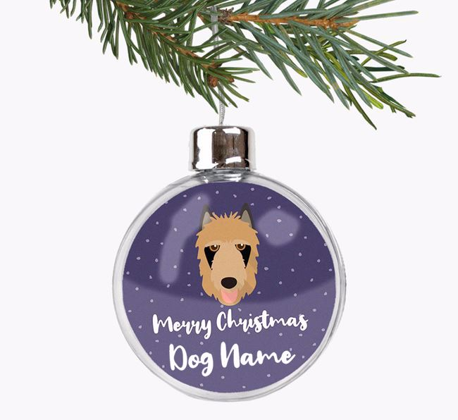 Personalised 'Merry Christmas' Fillable Bauble with your Belgian Laekenois Icon