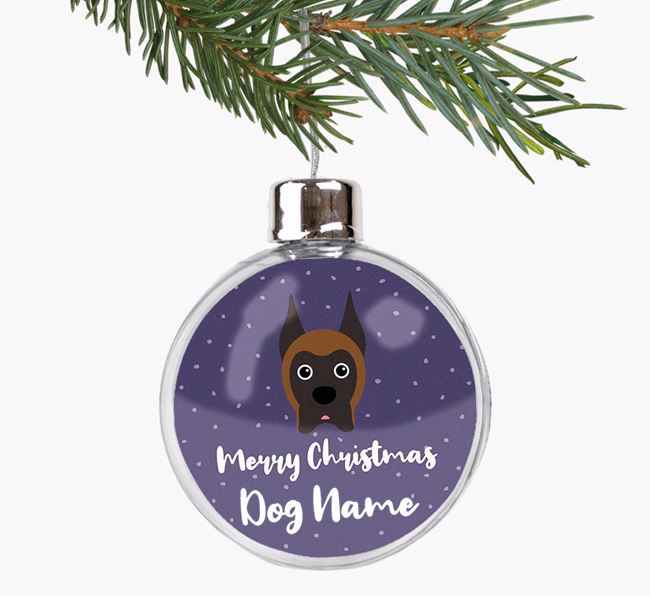 Personalised 'Merry Christmas' Fillable Bauble with your Boxer Icon