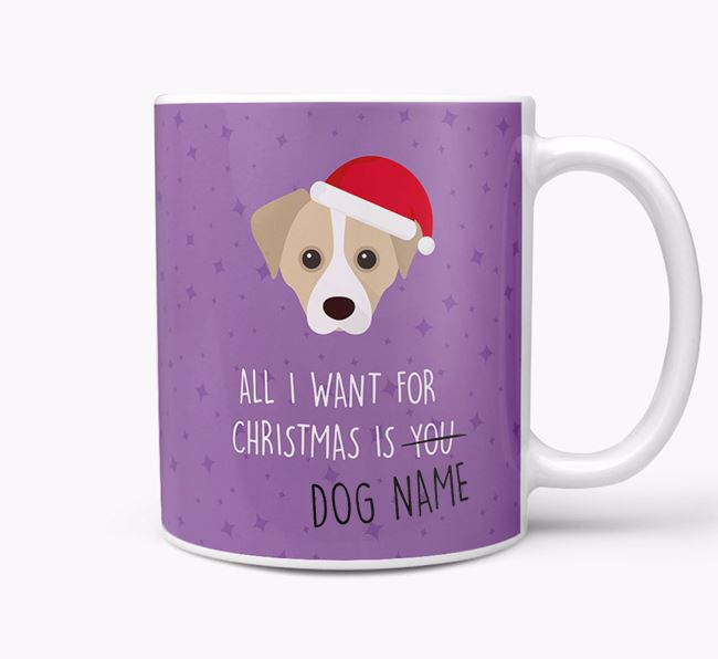 Personalised 'All I Want For Christmas Is...' Mug with Cheagle Icon