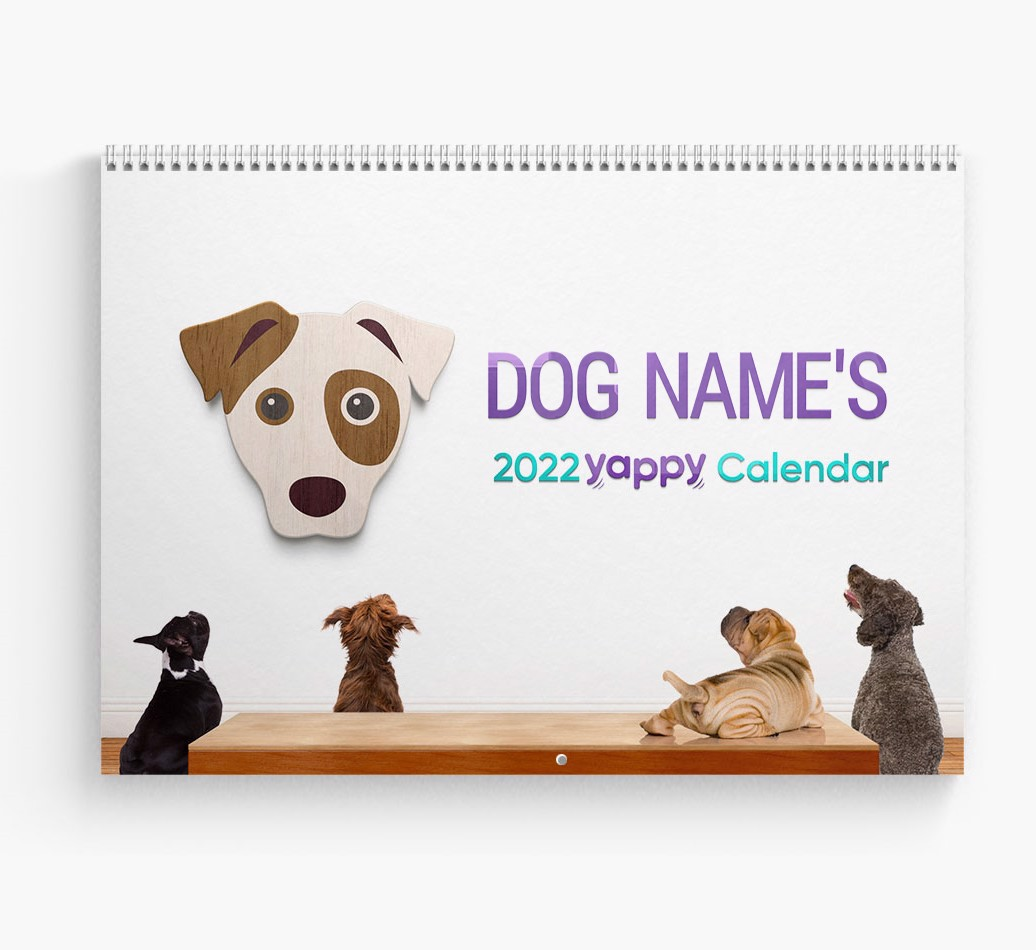 Personalized Dog Calendar - Cover Page
