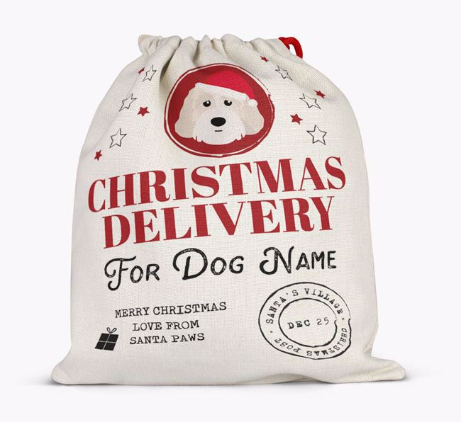 Personalised 'Christmas Delivery for Your Dog' Santa Sack