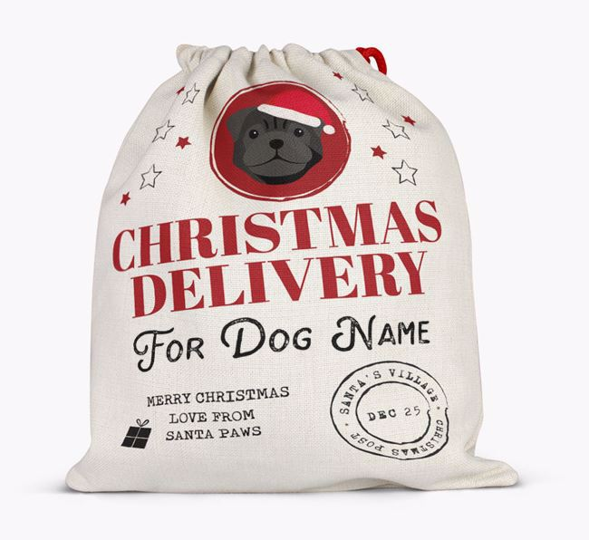 Personalized 'Christmas Delivery for Your Dog' Santa Sack