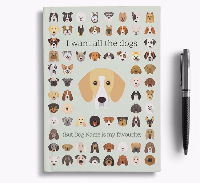 Bassador 'I Want All The Dogs' Personalised Notebook