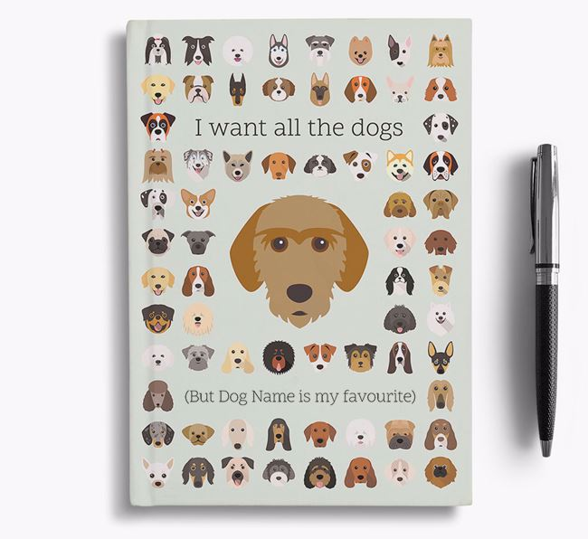 Basset Fauve De Bretagne 'I Want All The Dogs' Personalised Notebook