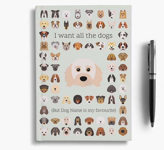 Doxiepoo 'I Want All The Dogs' Personalised Notebook