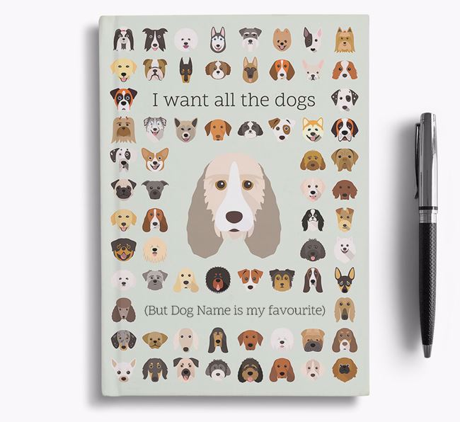 Grand Basset Griffon Vendeen 'I Want All The Dogs' Personalised Notebook
