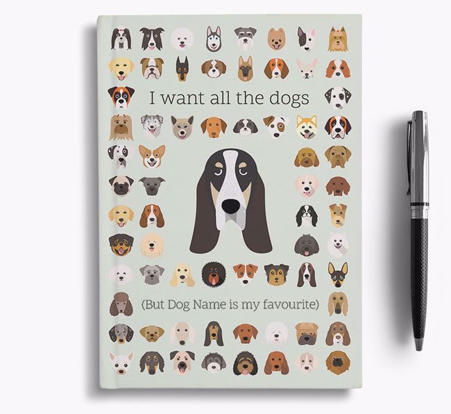 Grand Bleu De Gascogne 'I Want All The Dogs' Personalised Notebook
