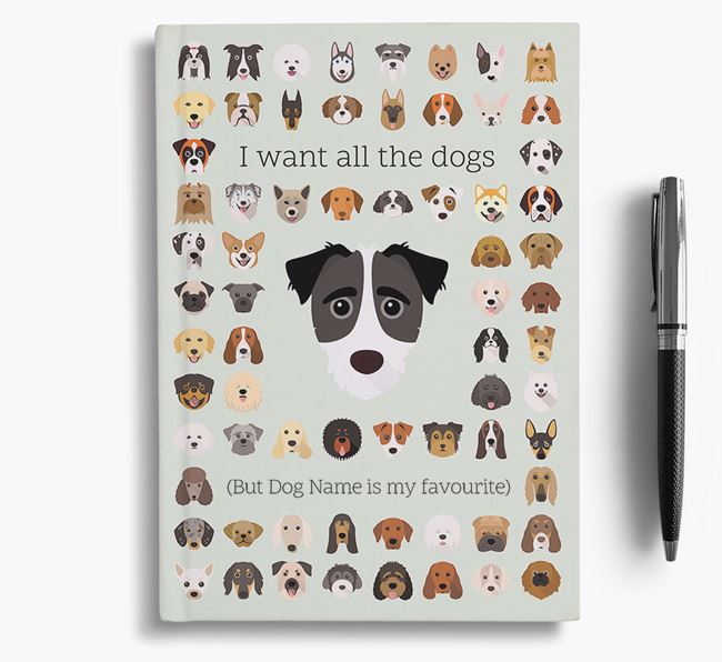 Jack-A-Poo 'I Want All The Dogs' Personalised Notebook