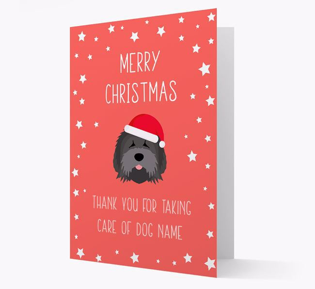 'Thank You' Christmas Card with your Tibetan Terrier Christmas Icon